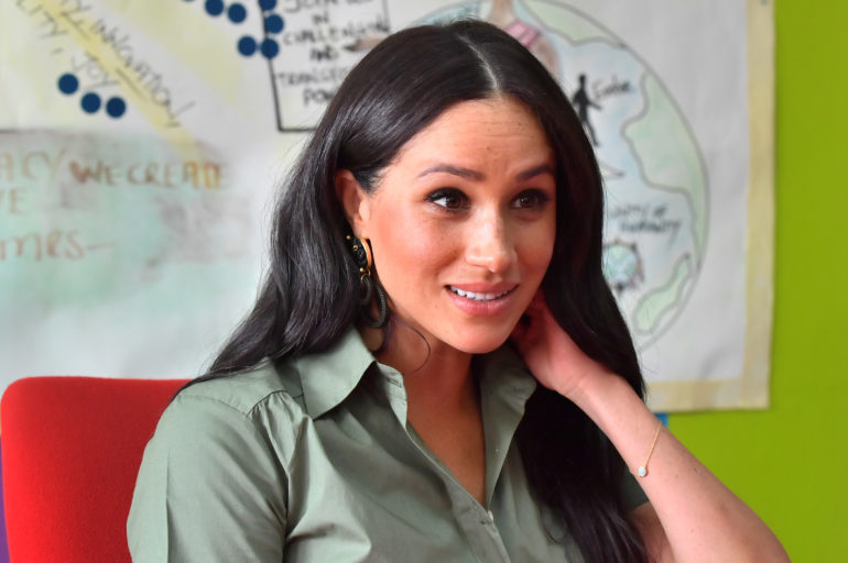 Britain's Meghan, Duchess of Sussex, visits ActionAid in Johannesburg