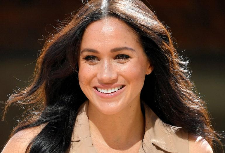 Britain's Meghan Markle, Duchess of Sussex, visits the University of