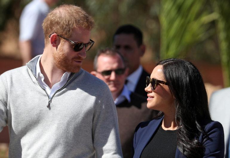 FILE PHOTO: Britain's Prince Harry and Meghan, Duchess of Sussex,