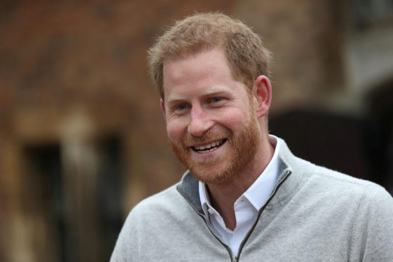 Britain's Prince Harry speaks after son's birth in Windsor